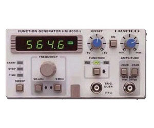 HAMEG HM8030-3 WITH 8021-3 FUNCTION GENERATOR, .02HZ-2MHZ, DUAL, W/1 GHZ FREQUENCY CTR.