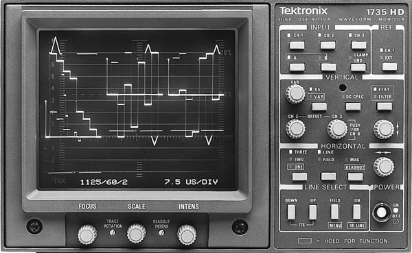 TEKTRONIX 1735 WAVEFORM MONITOR, PAL/NTSC