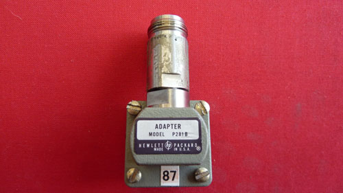 HP/AGILENT P281B ADAPTER, WR62-APC-7, 12.4-18 GHZ