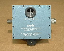 NARDA 793FM-SP ATTENUATOR 3.7-8.0 GHZ, 0-20 DB