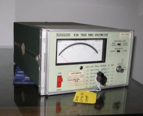 BOONTON ELECTRONICS 93A VOLTMETER, TRUE RMS, 10 HZ-20 MHZ